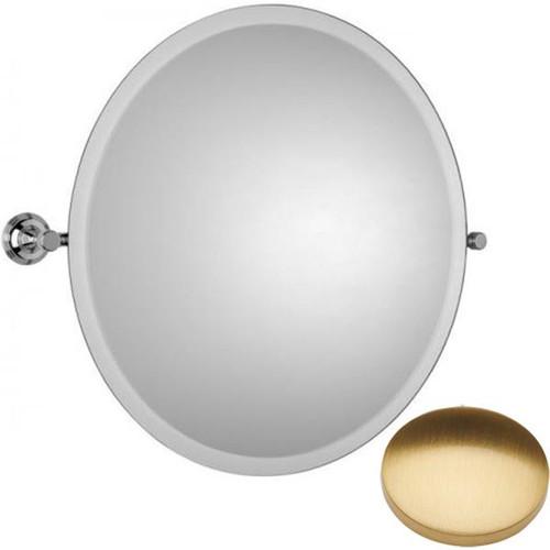 Brushed Gold Gloss Samuel Heath Style Moderne Round Tilting Mirror L6745