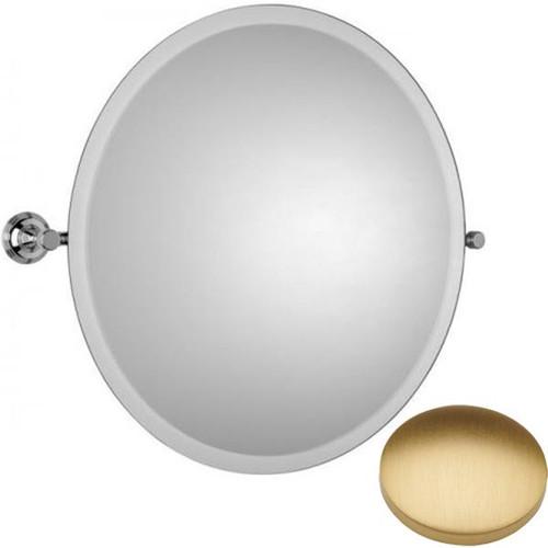 Brushed Gold Matt Samuel Heath Style Moderne Round Tilting Mirror L6745