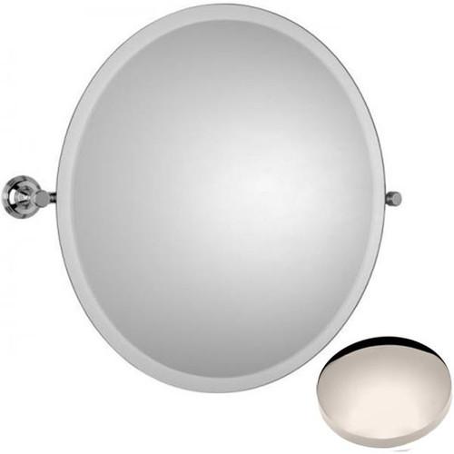 Polished Nickel Samuel Heath Style Moderne Round Tilting Mirror L6745