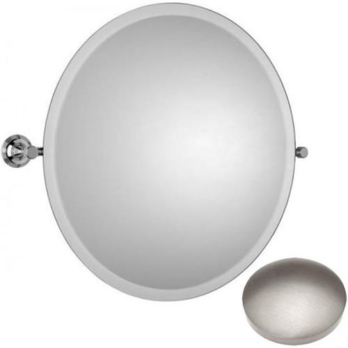Stainless Steel Finish Samuel Heath Style Moderne Round Tilting Mirror L6745