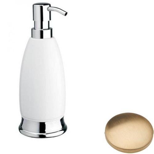 Brushed Gold unlacquered Samuel Heath Fairfield Freestanding Liquid Soap Dispenser N9566