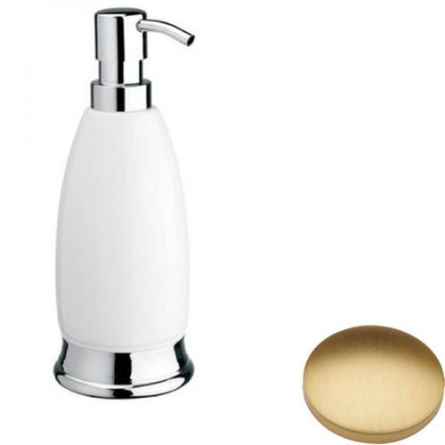 Brushed Gold Matt Samuel Heath Fairfield Freestanding Liquid Soap Dispenser N9566