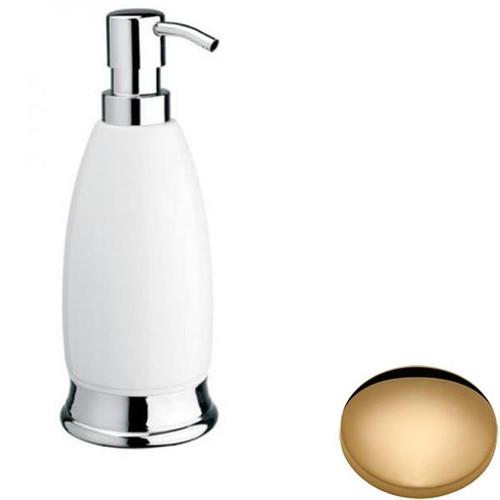 Non-Lacquered Brass Samuel Heath Fairfield Freestanding Liquid Soap Dispenser N9566