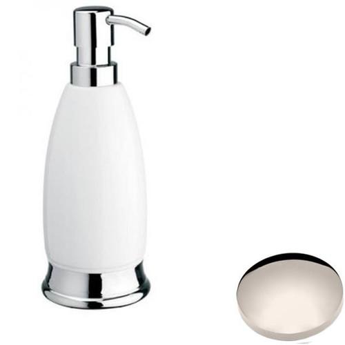 Polished Nickel Samuel Heath Fairfield Freestanding Liquid Soap Dispenser N9566