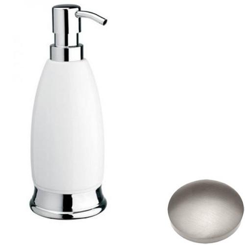 Stainless Steel Finish Samuel Heath Fairfield Freestanding Liquid Soap Dispenser N9566