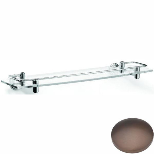 City Bronze Samuel Heath Fairfield Glass Shelf With Lifting Rail N9543
