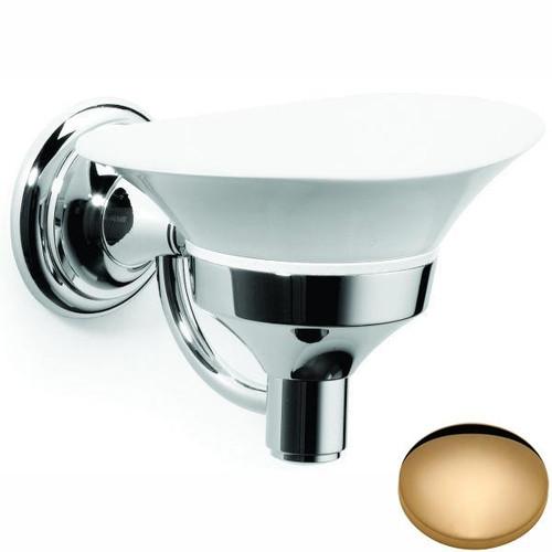 Non-Lacquered Brass Samuel Heath Fairfield Soap Dish N9534