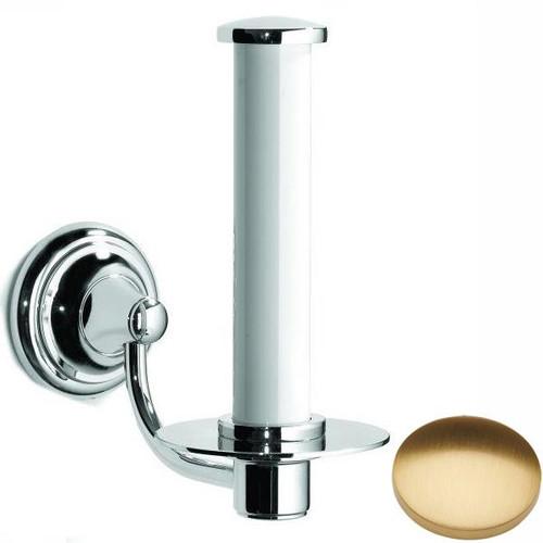 Brushed Gold Gloss Samuel Heath Fairfield Spare Toilet Roll Holder N9541