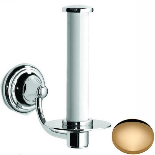 Non-Lacquered Brass Samuel Heath Fairfield Spare Toilet Roll Holder N9541