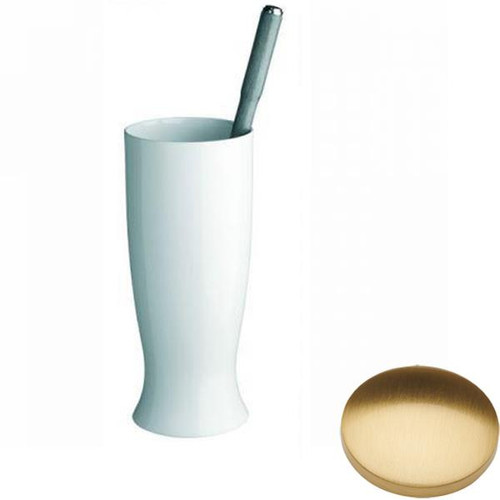 Brushed Gold Gloss Samuel Heath Fairfield Toilet Brush Set N9549