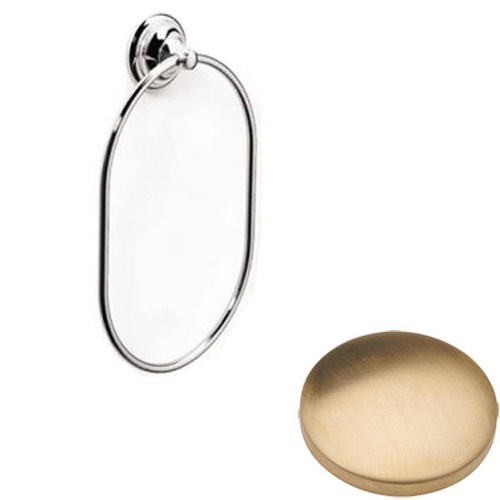 Brushed Gold unlacquered Samuel Heath Fairfield Towel Ring N9538