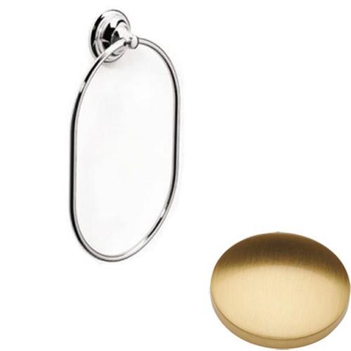 Brushed Gold Gloss Samuel Heath Fairfield Towel Ring N9538