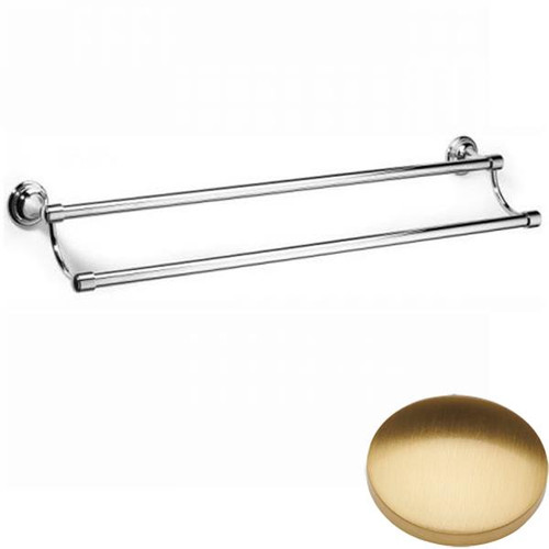 Brushed Gold Gloss Samuel Heath Fairfield Double Towel Rail N9552