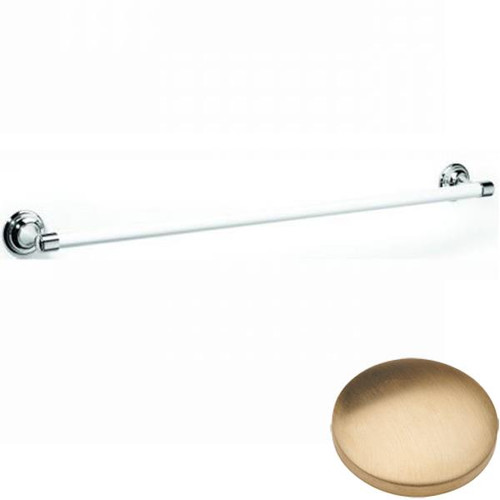 Brushed Gold unlacquered Samuel Heath Fairfield Single Ceramic Towel Rail N9561
