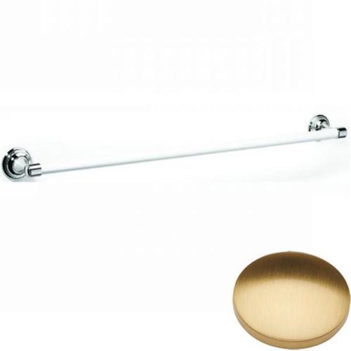 Brushed Gold Gloss Samuel Heath Fairfield Single Ceramic Towel Rail N9561