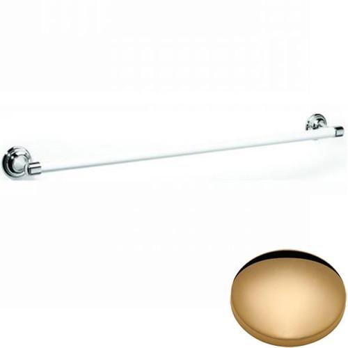 Non-Lacquered Brass Samuel Heath Fairfield Single Ceramic Towel Rail N9561