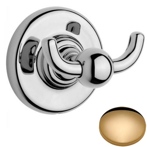 Non-lacquered Brass Samuel Heath Antique Double Robe Hook N4348