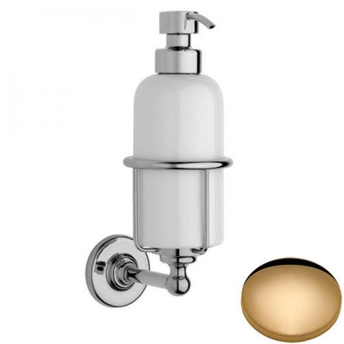 Non-Lacquered Brass Samuel Heath Antique Liquid Soap Dispenser N4347