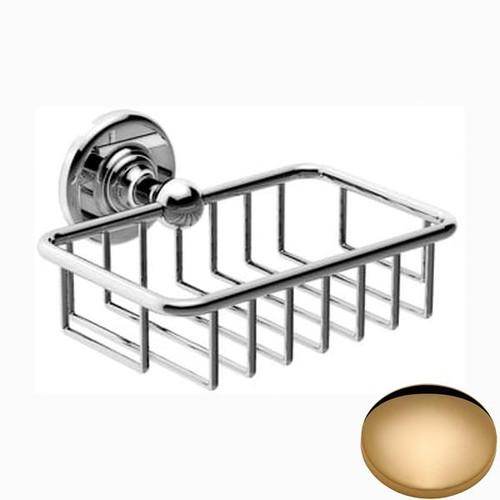 Non-Lacquered Brass Samuel Heath Antique Soap Basket N4330