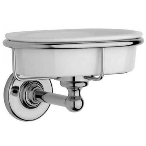 Chrome Plated Samuel Heath Antique Soap Dish N4334