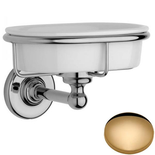 Non-Lacquered Brass Samuel Heath Antique Soap Dish N4334