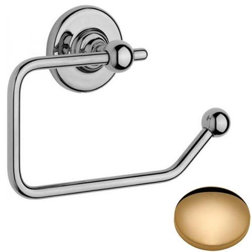 Non-Lacquered Brass Samuel Heath Antique Toilet Roll Holder N4337