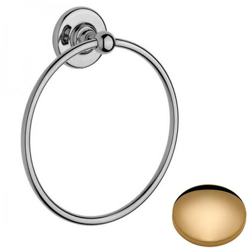 Non-Lacquered Brass Samuel Heath Antique Towel Ring N4398