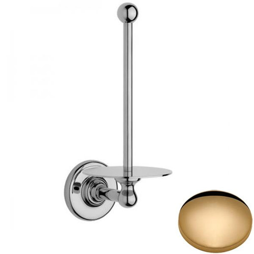 Non-Lacquered Brass Samuel Heath Antique Spare Toilet Roll Holder N4331