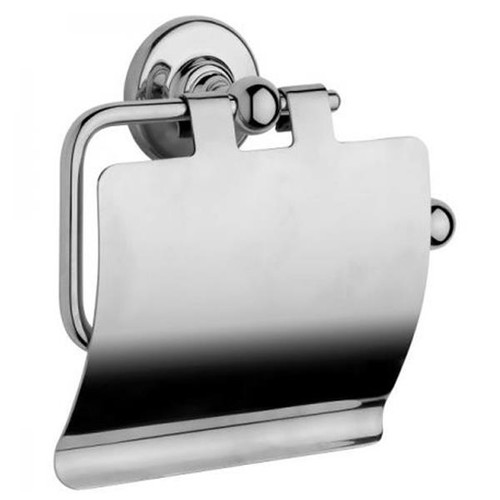 Chrome Plated Samuel Heath Antique Toilet Roll Holder With Cover N4337-C