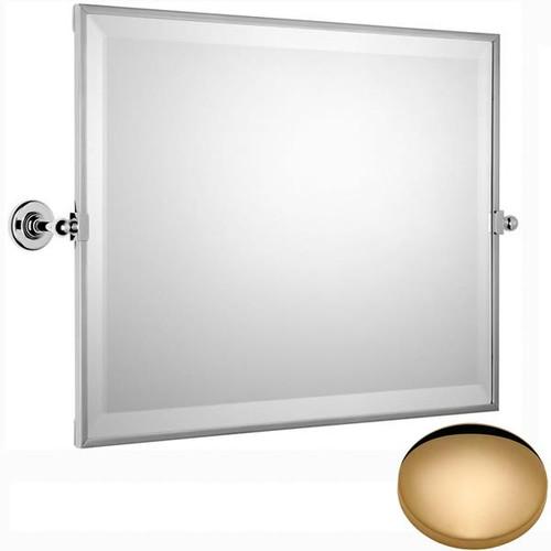 Non-Lacquered Brass Samuel Heath Antique Framed Horizontal Mirror N4343