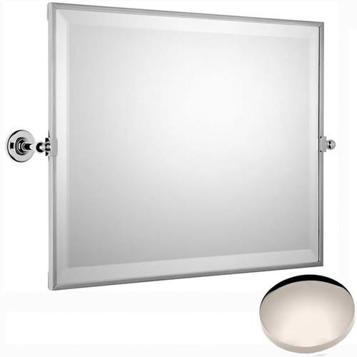Polished Nickel Samuel Heath Antique Framed Horizontal Mirror N4343