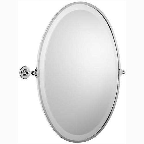 Chrome Plated Samuel Heath Antique Framed Oval Mirror N4346