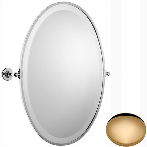 Non-Lacquered Brass Samuel Heath Antique Framed Oval Mirror N4346