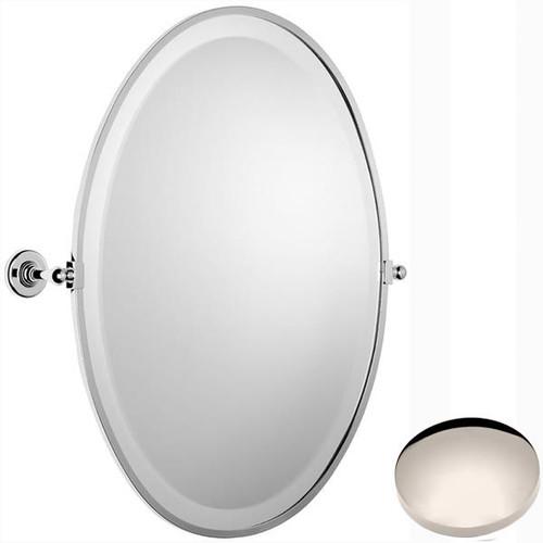 Polished Nickel Samuel Heath Antique Framed Oval Mirror N4346