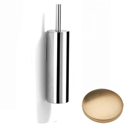 Brushed Gold Unlacquered Samuel Heath Xenon Wall Mounted Toilet Brush L5042