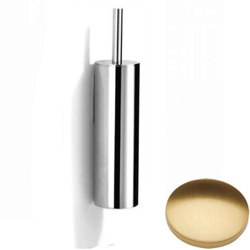 Brushed Gold Gloss Samuel Heath Xenon Wall Mounted Toilet Brush L5042