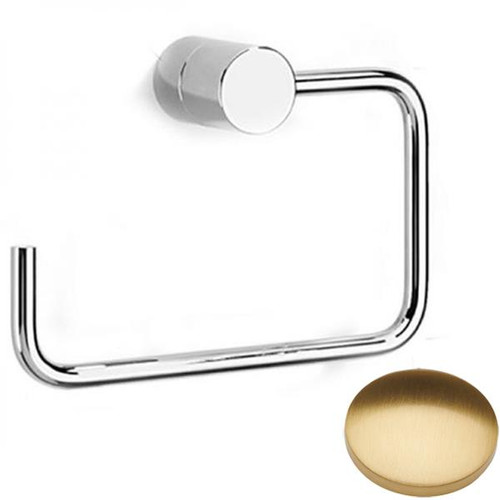 Brushed Gold Gloss Samuel Heath Xenon Toilet Roll Holder N5037