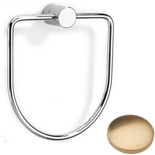 Brushed Gold Unlacquered Samuel Heath Xenon Towel Ring N5098
