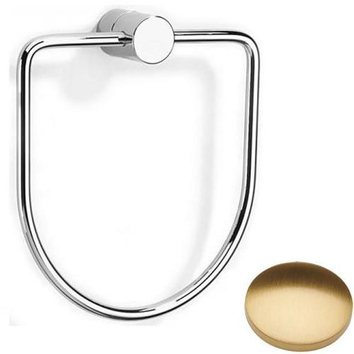 Brushed Gold Gloss Samuel Heath Xenon Towel Ring N5098