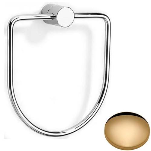 Non-Lacquered Brass Samuel Heath Xenon Towel Ring N5098