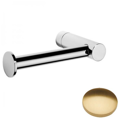 Brushed Gold Gloss Samuel Heath Xenon Single Arm Toilet Roll Holder N5091
