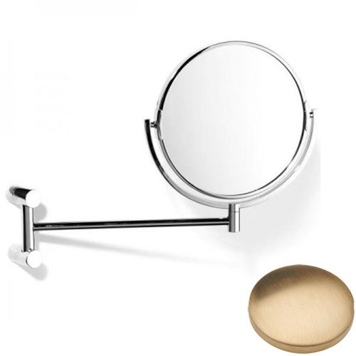 Brushed Gold Unlacquered Samuel Heath Xenon Pivotal Mirror Plain / Magnifying L5118