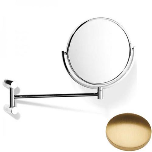 Brushed Gold Gloss Samuel Heath Xenon Pivotal Mirror Plain / Magnifying L5118