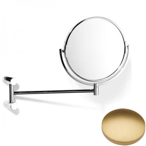 Brushed Gold Matt Samuel Heath Xenon Pivotal Mirror Plain / Magnifying L5118