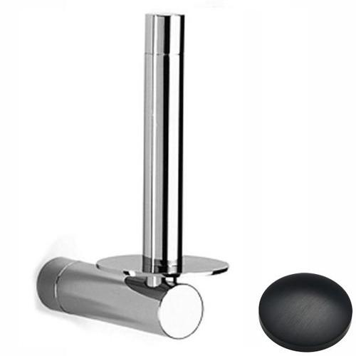 Matt Black Chrome Samuel Heath Xenon Spare Toilet Roll Holder N5031
