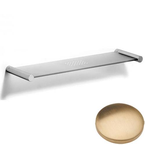 Brushed Gold Unlacquered Samuel Heath Xenon Glass Shelf N5113