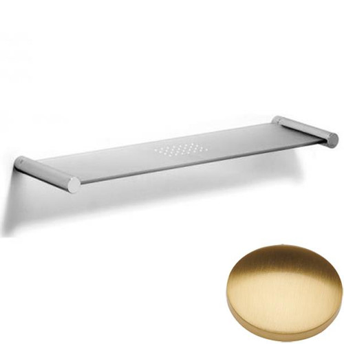 Brushed Gold Gloss Samuel Heath Xenon Glass Shelf N5113