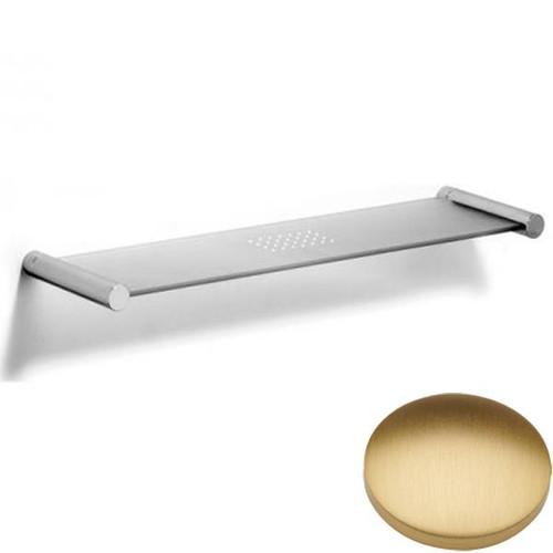 Brushed Gold Matt Samuel Heath Xenon Glass Shelf N5113