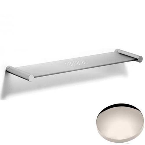 Polished Nickel Samuel Heath Xenon Glass Shelf N5113
