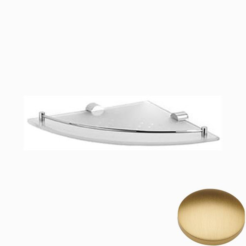 Brushed Gold Matt Samuel Heath Xenon Glass Corner Shelf N5036